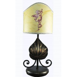 Lamp abat jour in wrought...