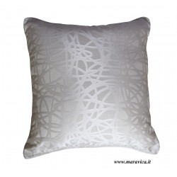 Modern throw pillow white and brown cm 40x40