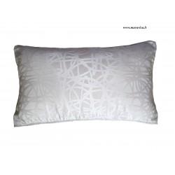 Cuscino arredo divano moderno double face bianco e marrone