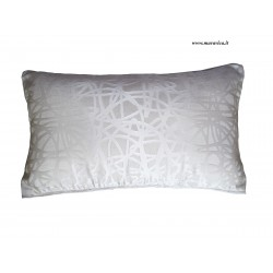 Modern throw pillow white and brown