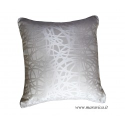 Modern throw pillow ivory and glam decor