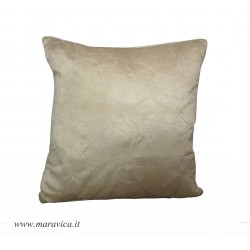 Luxury throw pillow silk and  velvet ivory made in Italy