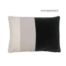 Cuscino arredo moderno velluto grigio scuro, grigio...