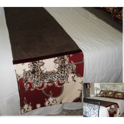 Runner da letto stampa animalier e alcantara luxury home...