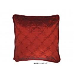 Cuscino arredo natalizio rosso bordeaux in taffetà di...