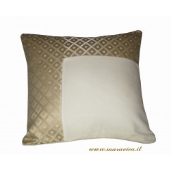 Ivory and gold luxury velvet throw pillow made in Italy