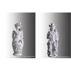 Lumiere in ceramica bianca di Caltagirone