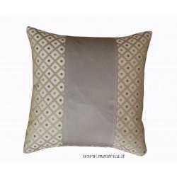Cuscino arredo divano tortora e azzurro a rombi