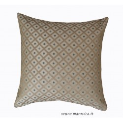 Dove-gray luxury throw pillow in fireproof and lampasso...