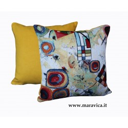 Modern throw pillow abstract pattern 40x40 cm