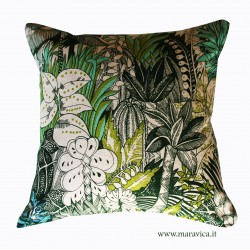 throw pillow tropical style 100% cotton