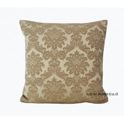 Beige damask elegant throw pillow