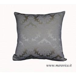 Cuscino arredo classico elegante damasco avorio