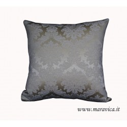 Ivory damask throw pillow luxury home
