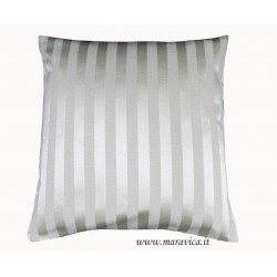 Ivory damask striped throw pillow luxury home