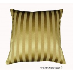Gold damask striped throw pillow luxury home