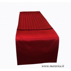 Table runner luxury home damask bordeaux