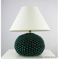 Lume ceramica pigna verde in ceramica di Caltagirone