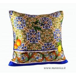 Cushion pure silk print...