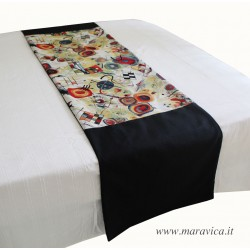 Modern abstract design bed runner