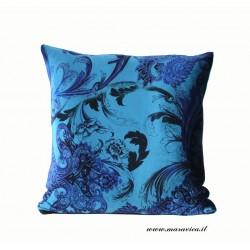 Throw pillow green velvet baroque decor