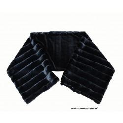 Stola sciarpa coprispalle donna in pelliccia nera