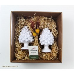 Gift box 2 white ceramic...