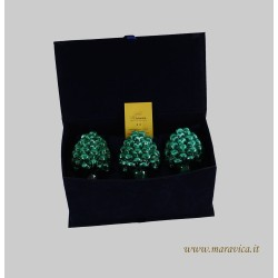pine cones in sicilian ceramic caltagirone Luxury box set 3