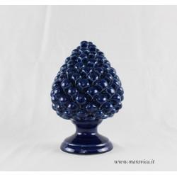 Pigna blu in ceramica di Caltagirone realizzata e dipinta...