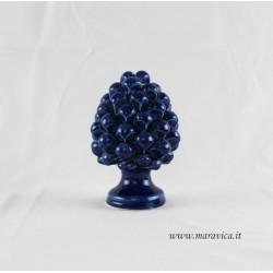 Blu pine cone sicilian ceramic