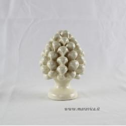 Pigna ceramica bianca avorio Sicilia Caltagirone