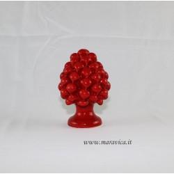 Pine cone sicilian ceramic Caltagirone red