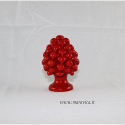 Pigna in ceramica di Caltagirone colore rosso