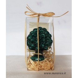 Sicilian pinecone in Caltagirone ceramic wedding favor