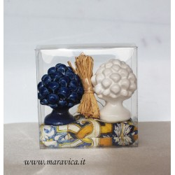 Sicilian pine cones in ceramic h cm 6 wedding favor gift box