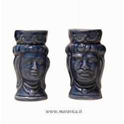 Moorish heads sicilian ceramic Caltagirone h cm 10