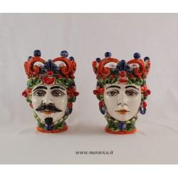 Moorish heads decorated in sicilian Caltagirone