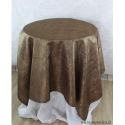 Tablecloth in brown and gold linen