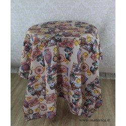 Sicilian printed cotton table cover tablecloth