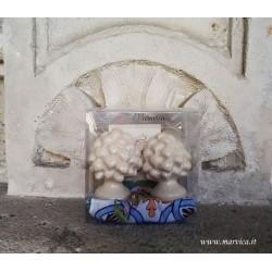 Sicilian pine cones in ivory ceramic h cm 6 gift box