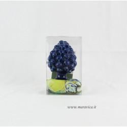 Pigna siciliana blu in ceramica di Caltagirone h cm 10 in...