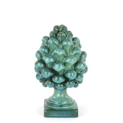 Sicilian green pinecone in Caltagirone ceramic h cm...