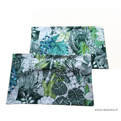 Placemats in natural cotton tropical print