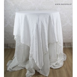 copy of Shabby chic centerpiece tablecloth in ivory...
