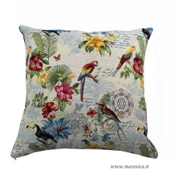 copy of Gobelin throw pillow tropical style with flowers...