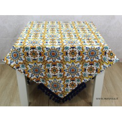 Tovaglia da tavola in cotone stampa maiolica con...