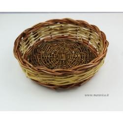 copy of Sicilian bread basket with Caltagirone majolica...