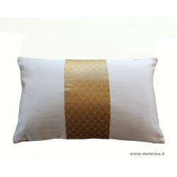 Ivory and gold throw pillow luxury