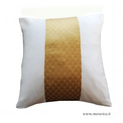 Ivory and gold throw pillow luxury cm 45x45