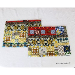 Set of 2 American placemats in sicilian style printed cotton